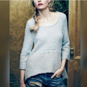 Knitted & Knotted   Lace Trim Pullover Sweater